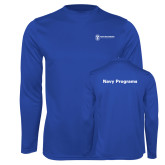Performance Royal Longsleeve Shirt-Navy Programs
