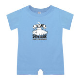 Light Blue Infant Romper-Future Shipbuilder Submarine