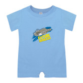 Light Blue Infant Romper-Future Shipbuilder Carrier Ship