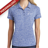 Ladies Royal Electric Heather Polo-CVN 80 and 81