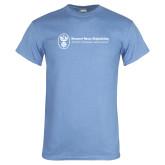 Light Blue T Shirt-Newport News Shipbuilding