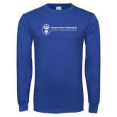 Royal Long Sleeve T Shirt-Newport News Shipbuilding