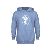 Youth Light Blue Fleece Hoodie-Icon