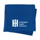 Royal Sweatshirt Blanket-Huntington Ingalls Industries