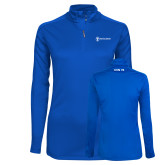 Ladies Syntrel Interlock Royal 1/4 Zip-CVN 79