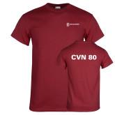 Cardinal T Shirt-CVN 80 and 81