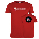 Ladies Red T Shirt-CVN 80