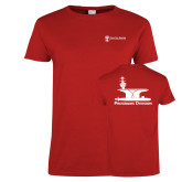 Ladies Red T Shirt-Programs Division
