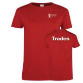 Ladies Red T Shirt-Trades