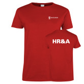 Ladies Red T Shirt-HR and A