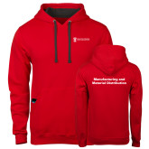Contemporary Sofspun Red Hoodie-Manufacturing and Material Distribution
