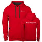 Contemporary Sofspun Red Hoodie-Navy Programs