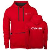 Contemporary Sofspun Red Hoodie-CVN 80 and 81