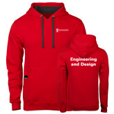 Contemporary Sofspun Red Hoodie-Engineering and Design