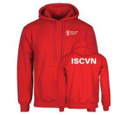 Red Fleece Hoodie-ISCVN
