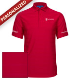 Red Horizontal Textured Polo-Manufacturing and Material Distribution