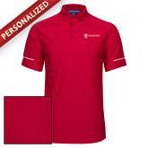 Red Horizontal Textured Polo-Navy Programs