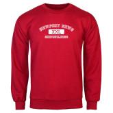 Red Fleece Crew-NNS College Design