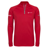 Under Armour Red Tech 1/4 Zip Performance Shirt-Information Technology