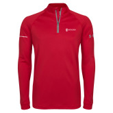 Under Armour Red Tech 1/4 Zip Performance Shirt-Nuclear Propulsion