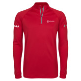 Under Armour Red Tech 1/4 Zip Performance Shirt-HR and A