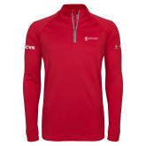 Under Armour Red Tech 1/4 Zip Performance Shirt-ISCVN