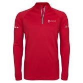 Under Armour Red Tech 1/4 Zip Performance Shirt-CVN 80 and 81