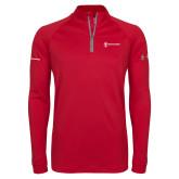Under Armour Red Tech 1/4 Zip Performance Shirt-Comms