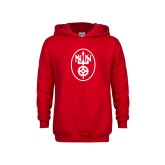 Youth Red Fleece Hoodie-Icon