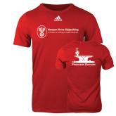 Adidas Red Logo T Shirt-Programs Division