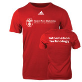 Adidas Red Logo T Shirt-Information Technology