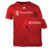 Adidas Red Logo T Shirt-Manufacturing and Material Distribution