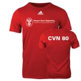 Adidas Red Logo T Shirt-CVN 80 and 81