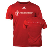 Adidas Red Logo T Shirt-Contracts and Pricing