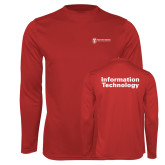 Performance Red Longsleeve Shirt-Information Technology