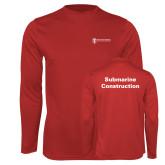 Performance Red Longsleeve Shirt-Submarine Construction