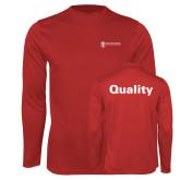 Performance Red Longsleeve Shirt-Quality