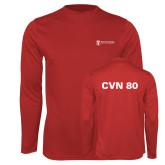 Performance Red Longsleeve Shirt-CVN 80 and 81