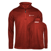Russell Red Heather 1/4 Zip-HR and A