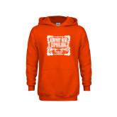Youth Orange Fleece Hoodie-NNS Vintage