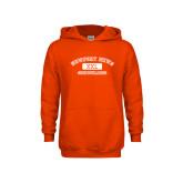 Youth Orange Fleece Hoodie-NNS College Design
