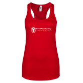 Next Level Ladies Red Ideal Racerback Tank-Newport News Shipbuilding