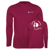 Performance Maroon Longsleeve Shirt-NNS IT