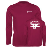 Performance Maroon Longsleeve Shirt-HR and A