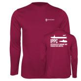 Performance Maroon Longsleeve Shirt-IPPC