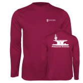 Performance Maroon Longsleeve Shirt-Programs Division