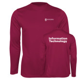 Performance Maroon Longsleeve Shirt-Information Technology