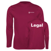 Performance Maroon Longsleeve Shirt-Legal