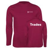 Performance Maroon Longsleeve Shirt-Trades