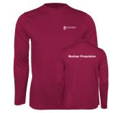 Performance Maroon Longsleeve Shirt-Nuclear Propulsion
